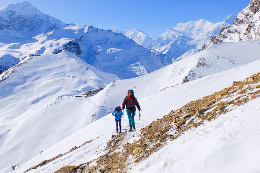 People hiking in Nepal